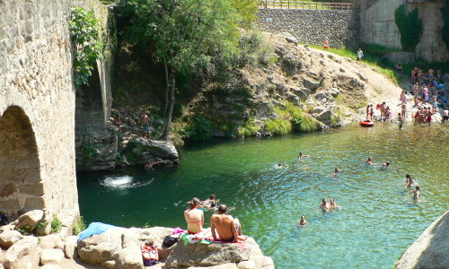 Natural swimming pools in La Vera