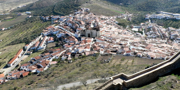 Feria town from the castle