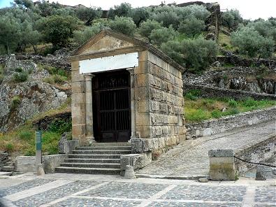 Little roman temple near the Bridge of Alcantara