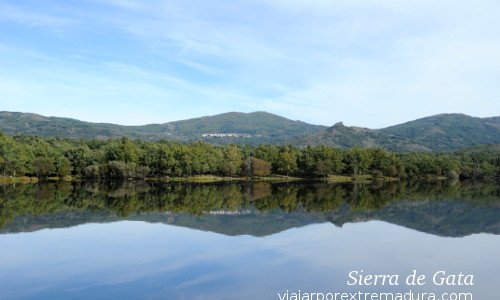 Sierra de Gata beautiful landscapes. Dam of Atalaya